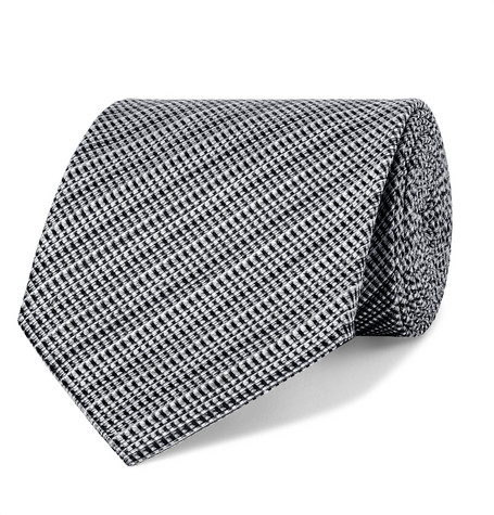TOM FORD | TOM FORD - 8cm Woven Silk And Linen-blend Tie - Gray | Goxip