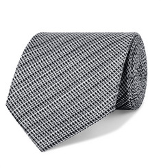 TOM FORD 8cm Woven Silk and Linen-Blend Tie