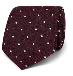 TOM FORD 8cm Polka-Dot Metallic Silk-Jacquard Tie