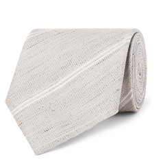 TOM FORD 8.5cm Striped Silk and Linen-Blend Tie