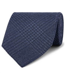 TOM FORD 8cm Prince of Wales Checked Silk Tie