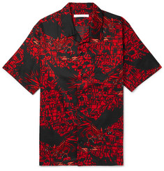 Givenchy Camp-Collar Printed Cotton Shirt