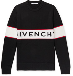 Givenchy - Logo-Intarsia Wool Sweater
