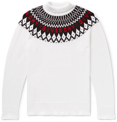 Givenchy Logo-Intarsia Wool Rollneck Sweater