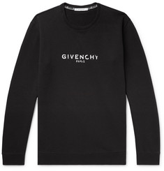 Givenchy - Distressed Logo-Print Loopback Cotton-Jersey Sweatshirt