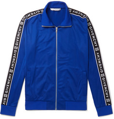 Givenchy Logo-Jacquard Fleece-Back Tech-Jersey Track Jacket