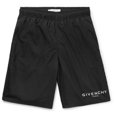 Givenchy Slim-Fit Long-Length Logo-Print Swim Shorts