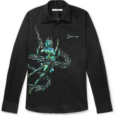 Givenchy Slim-Fit Printed Cotton Shirt