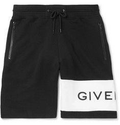 Givenchy - Logo-Embroidered Loopback Cotton-Jersey Drawstring Shorts