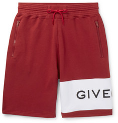 Givenchy Logo-Embroidered Loopback Cotton-Jersey Drawstring Shorts