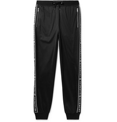 Givenchy Tapered Logo-Jacquard Fleece-Lined Tech-Jersey Sweatpants