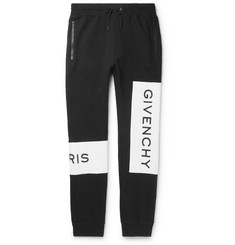 Givenchy Tapered Logo-Print Loopback Cotton-Jersey Sweatpants