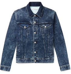 Givenchy Slim-Fit Logo-Print Washed Stretch-Denim Jacket