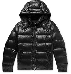 Valentino Rockstud Quilted Shell Hooded Down Jacket