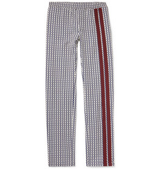 Valentino Logo-Print Virgin Wool-Twill Drawstring Trousers