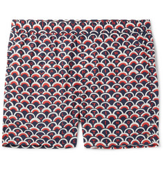 Valentino Wide-Leg Mid-Length Printed Swim Shorts