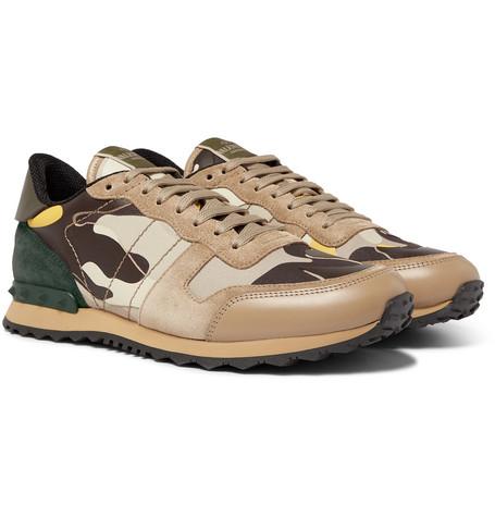 3cf2c5461addb Valentino Camouflage Rockrunner Sneaker In Neutral | ModeSens