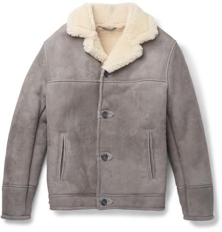 KINGSMAN Statesman Shearling Jacket in Gray