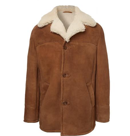 KINGSMAN Statesman Shearling Jacket in Brown
