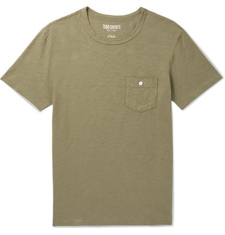 Slub Cotton Jersey T Shirt by Todd Snyder