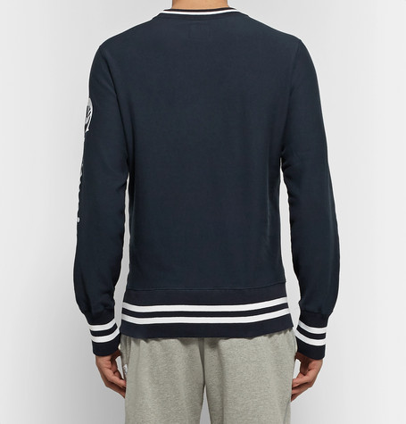 Logo Print Loopback Cotton Jersey Sweatshirt by Todd Snyder + Champion