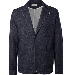 Oliver Spencer Loungewear - Navy Birch Mélange Jersey Blazer