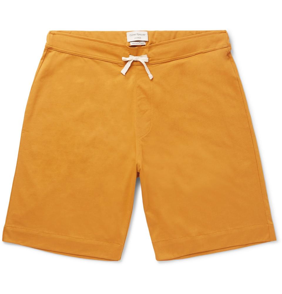 York Supima Cotton-jersey Pyjama Shorts - Camel
