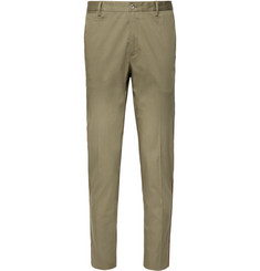 Dolce & Gabbana Tapered Striped Stretch Cotton-Blend Trousers