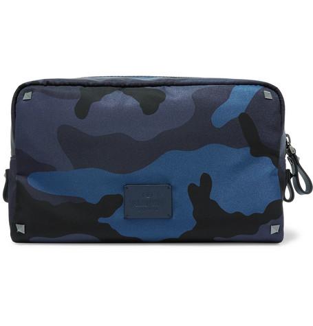 Valentino Garavani Camouflage Print Nylon Wash Bag by Valentino