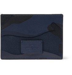 Valentino Valentino Garavani Camouflage-Print Leather and Canvas Cardholder