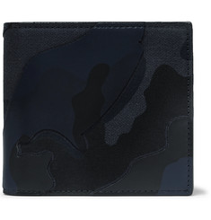 Valentino Valentino Garavani Camouflage-Print Canvas and Leather Billfold Wallet