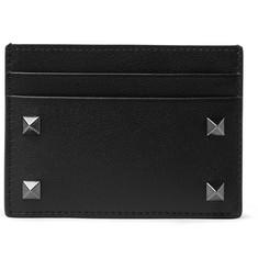 Valentino Garavani Rockstud Leather Cardholder - Black