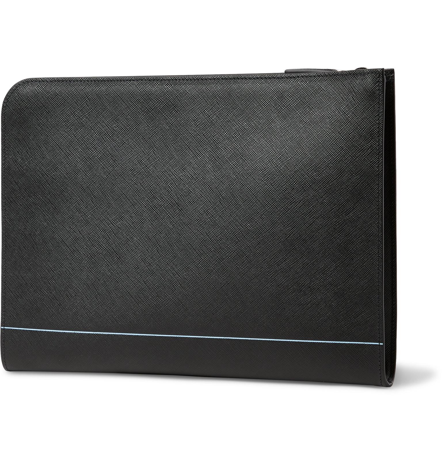 4ef58866cd89 Prada - Logo-Print Saffiano Leather Zip-Around Pouch