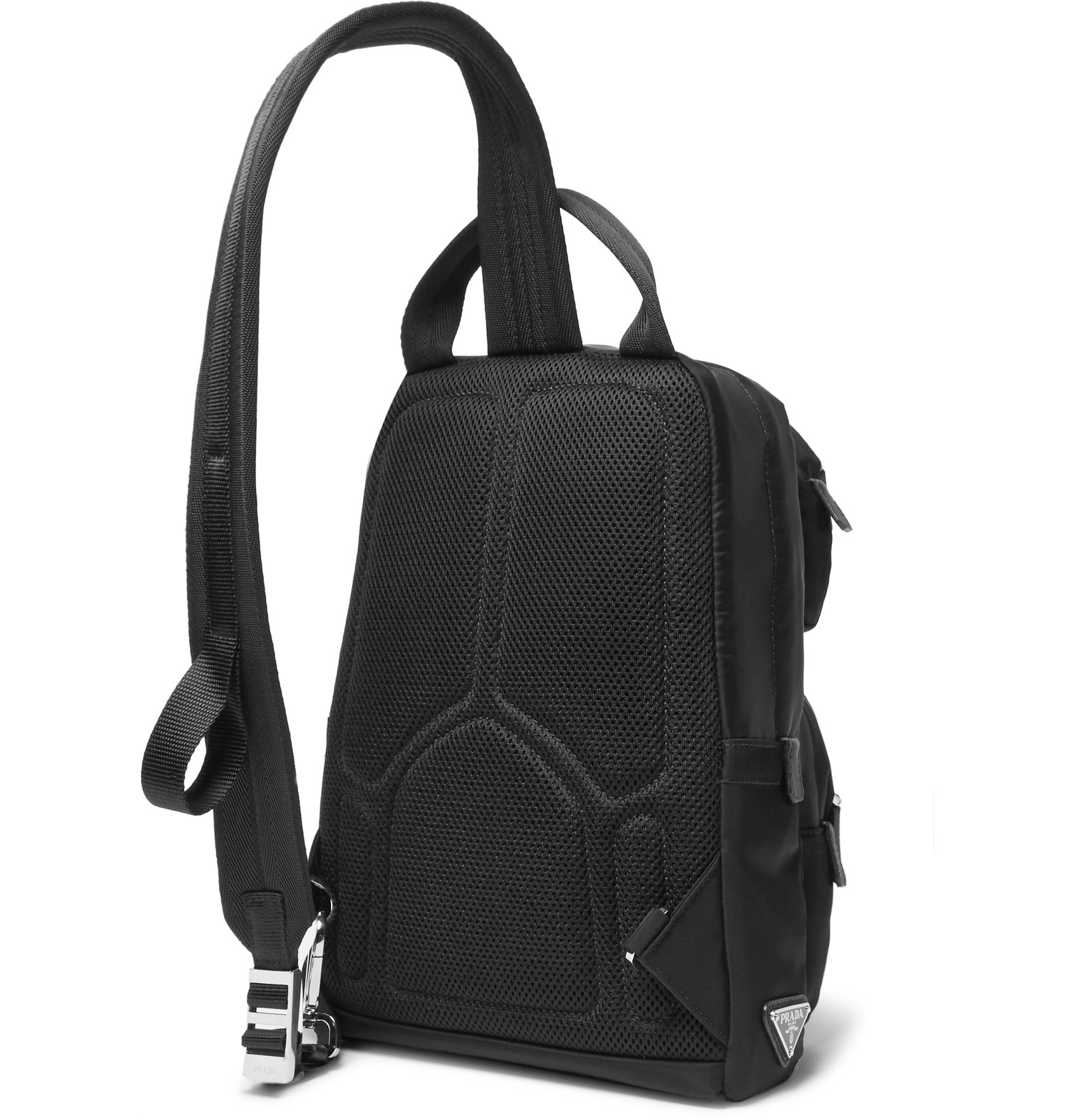 f7ef24f86000 Prada - Saffiano Leather-Trimmed Nylon Backpack