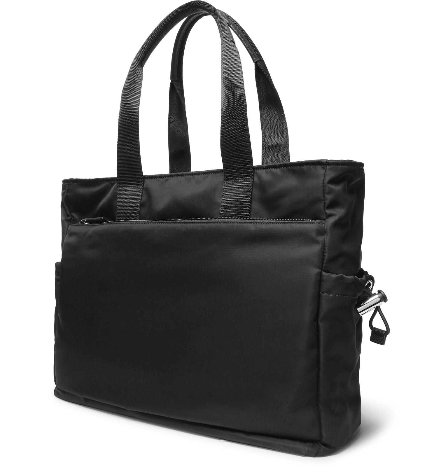 ca671419d2dd1d Prada - Saffiano Leather-Trimmed Nylon Tote Bag