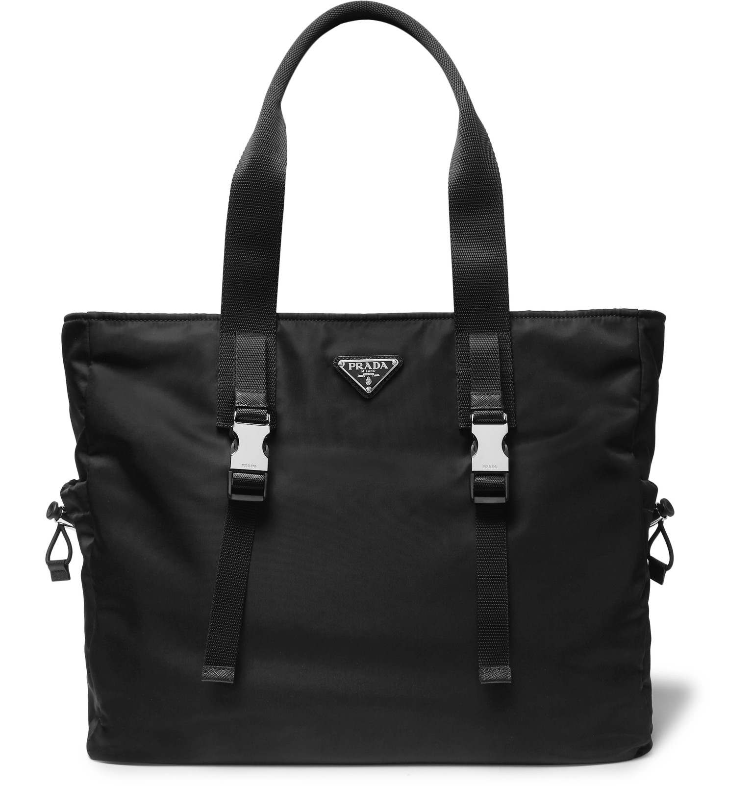 d028e93793684d Prada - Saffiano Leather-Trimmed Nylon Tote Bag