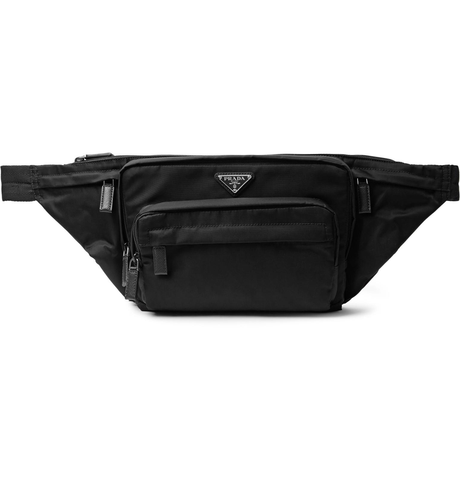 Prada - Saffiano Leather-Trimmed Nylon Belt Bag c9a248f49a