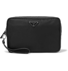 Prada - Saffiano Leather-Trimmed Nylon Wash Bag