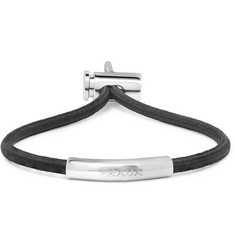 Prada Elasticated Cord and Silver-Tone Bracelet