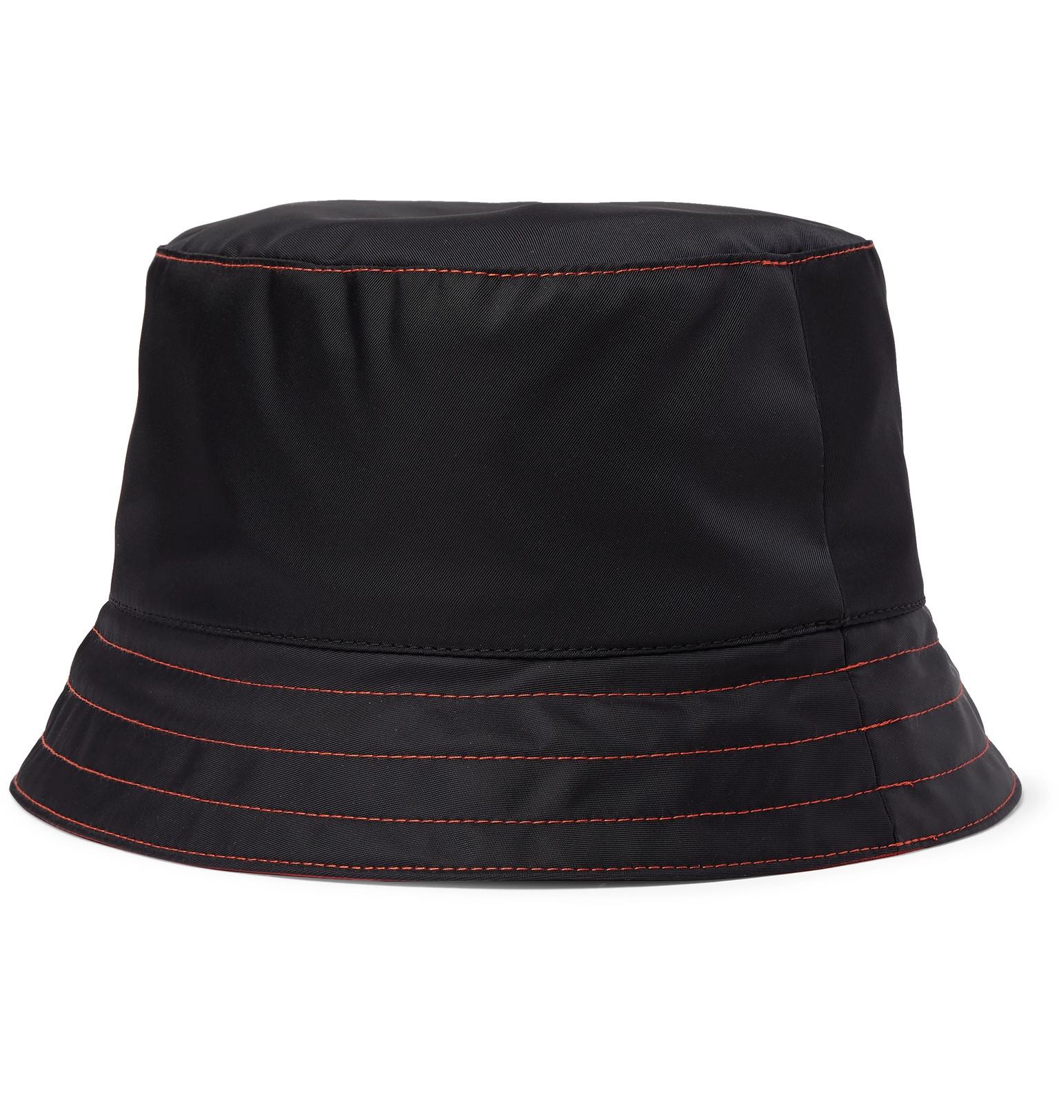 e5354c5934506 Prada - Logo-Appliquéd Nylon Bucket Hat