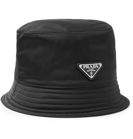 Prada - Logo-Appliquéd Nylon Bucket Hat f63bff04244
