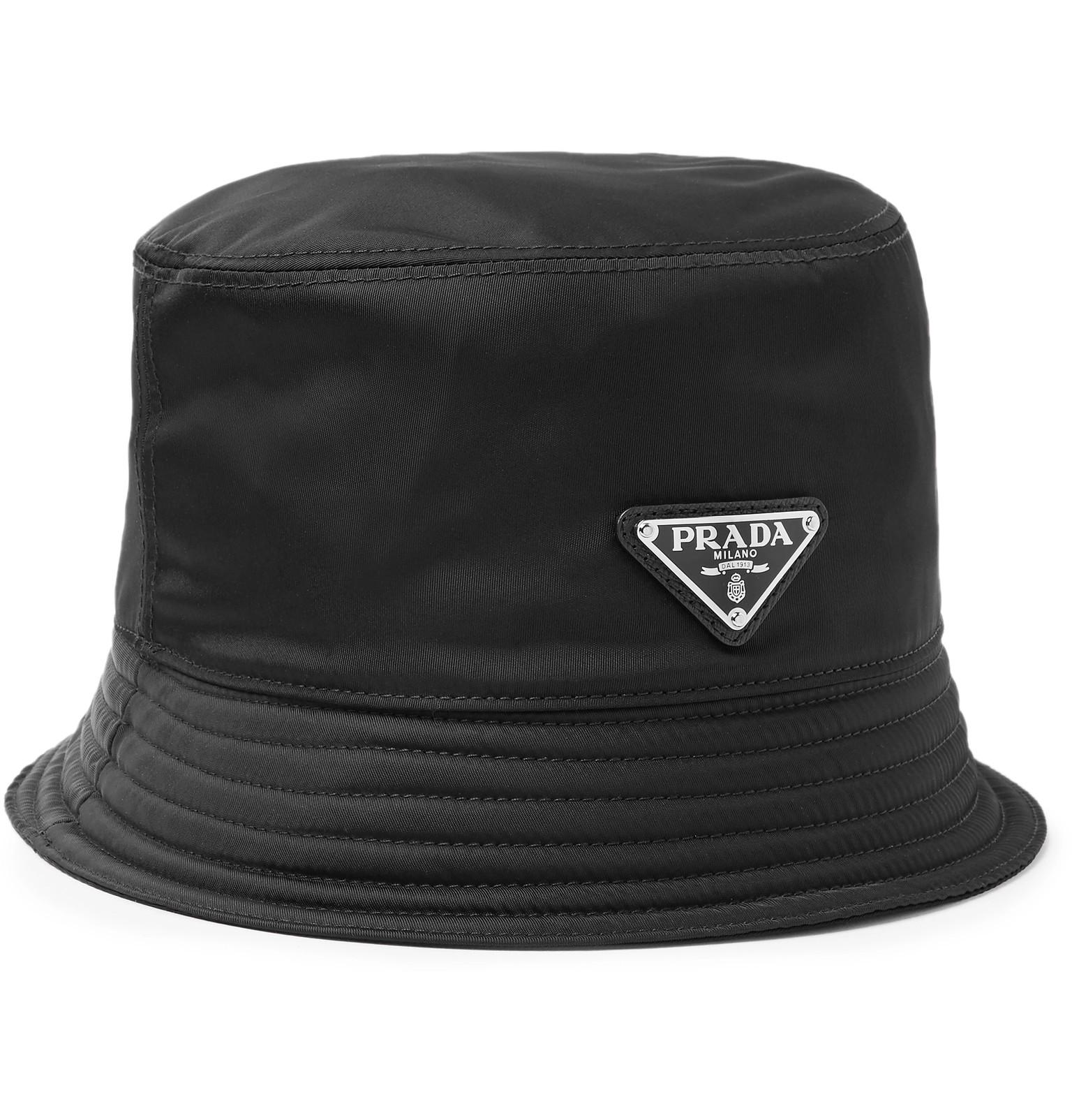 Prada - Logo-Appliquéd Nylon Bucket Hat 6be141369b9