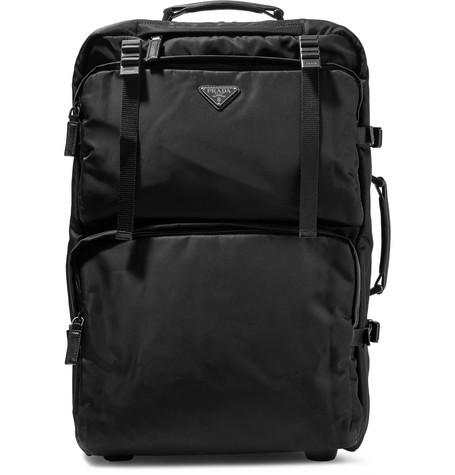 aa3e6fbd78e8 Prada - Saffiano Leather-Trimmed Nylon Carry-On Suitcase