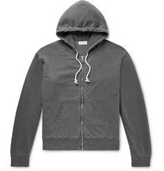 John Elliott Cotton-Jersey Zip-Up Hoodie