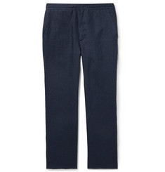 Brioni Navy Linen Trousers