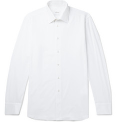 Brioni Slim-Fit Cotton-Piqué Shirt