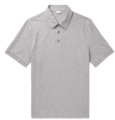Brioni Herringbone Cotton-Jersey Polo Shirt