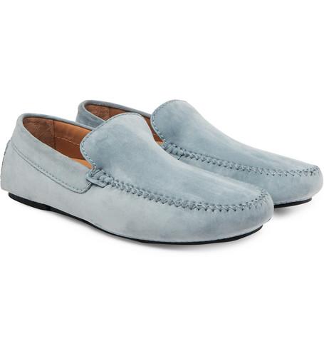 Nubuck Penny Loafers - Blue