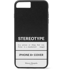 Maison Margiela Printed Leather and Rubber IPhone 8+ Case