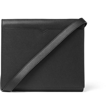 Valextra – Full-grain Leather Messenger Bag – Black